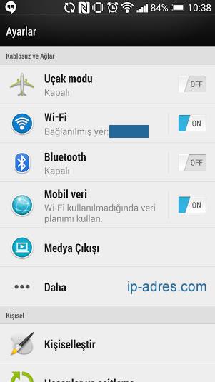 Android DNS Değiştirme - WiFi
