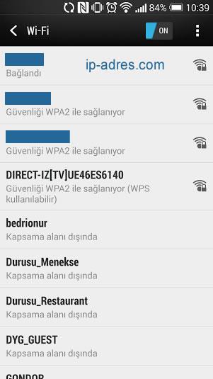 Android DNS Değiştirme - Ağ Seçimi