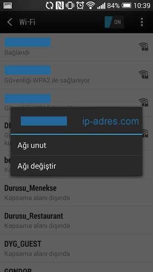 Android DNS Değiştirme - Ağ Değiştir