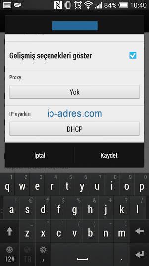 Android DNS Değiştirme - İP Ayarları