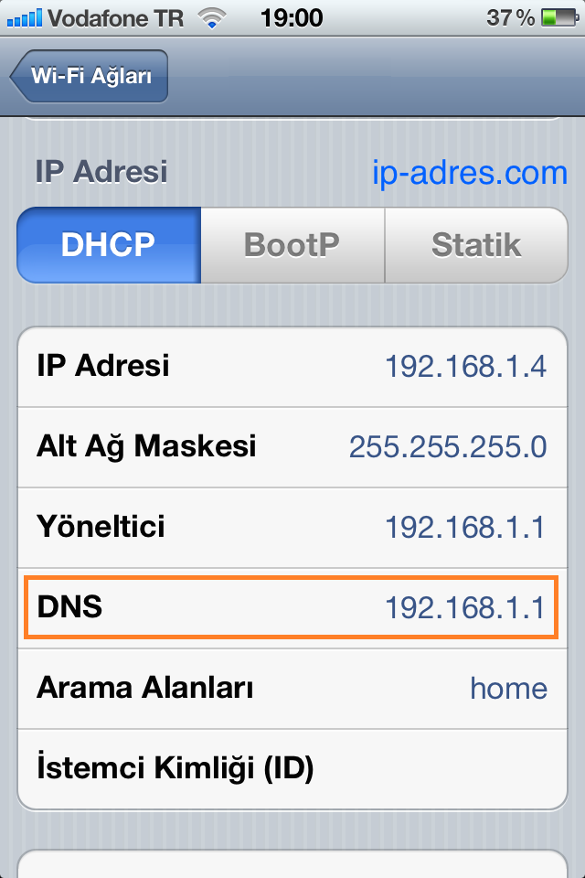 iPhone DNS Değiştirme - DNS Ayarı